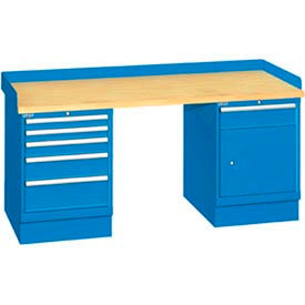 Industrial Workbenches with Cabinet Pedestals