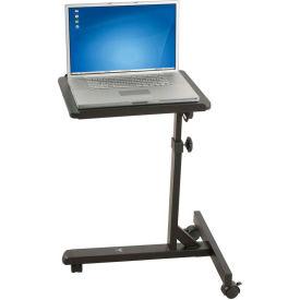 """Balt® 89819 Lap Jr. Mobile Laptop Stand, 27""""- 42""""H x 18""""W x 22""""D, Black"""
