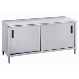 Advance Tabco Cabinet Worktables With Sliding Door