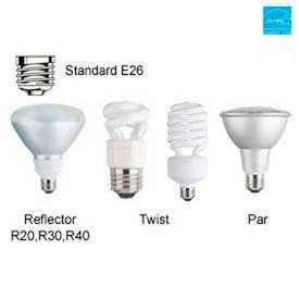 Compact Fluorescent (CFL) Screw Bulbs