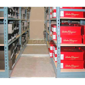 "Mobile Aisle Shelving 74-1/2"" High"