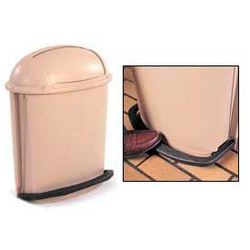 Rubbermaid® Foot Pedal Rolltop Waste Container