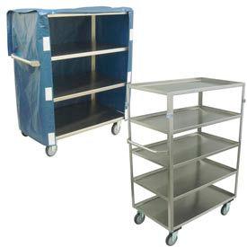 Jamco Medium Duty Stainless Steel Shelf Trucks - 600 Lb. Capacity