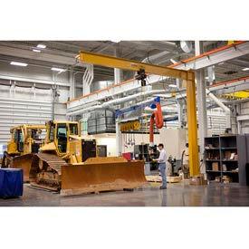 Gorbel® Heavy Duty Mast Type Jib Cranes - Full Cantilever 4000 lb. to 10,000 lb. Capacity