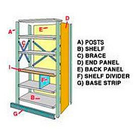 Steel Shelving - Panels & Base Strips
