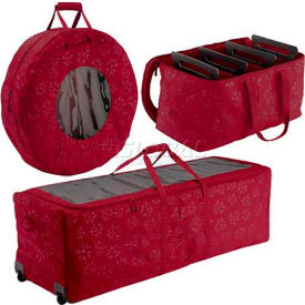 Holiday Debossed Fabric Storage Duffel