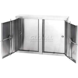 Omnimed® Stainless Twin Double Door Narcotic Cabinets