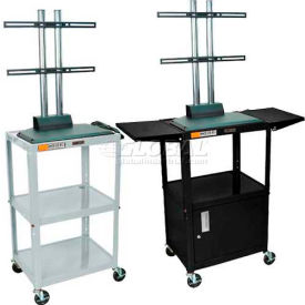 Luxor Adjustable Height Flat Panel Carts