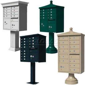 Vital™ Pedestal Mounted Outdoor Cluster Mail Box Units