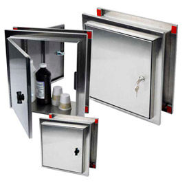 Harloff Stainless Steel Pass-Through Cabinets