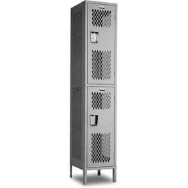 "Penco Invincible II, 2 Tier, 72""H, Ready To Assemble Steel Lockers With Recessed Handle"