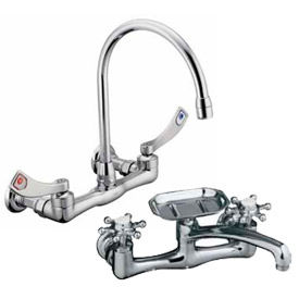 Wall Mounted Widespread Kitchen Faucets
