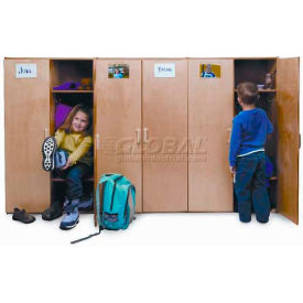 Pre-School Kid Wood Lockers With Doors