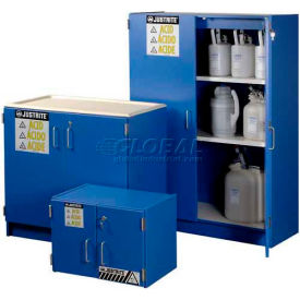 Justrite® Blue Wood Laminated Acid Storage Cabinets