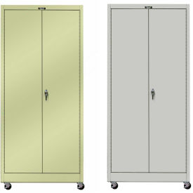 Hallowell Solid Door Mobile Storage Cabinets
