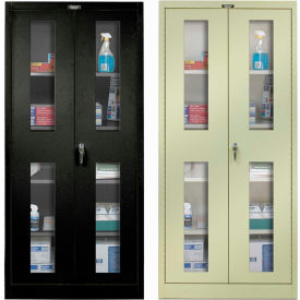 Hallowell Safety-View Door Storage Cabinets