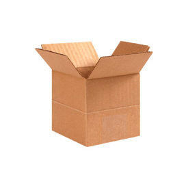 "Multi-Depth Cardboard Corrugated Box 22"" x 22"" x 22""-20""-18""-16"" 200lb. Test - 10 Pack"