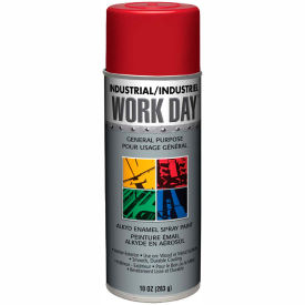 Krylon Industrial Work Day Enamel Paint Gloss Red - A04404 - Pkg Qty 12