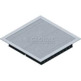 SNA Raised Floor Aluminum Air Grill Panel, 2'L X 2'W, 1000 CLC, SCS2 Stringer, 65% Open, Heavy