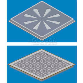SNA Air Distribution Perforated Panel, 2'L X 2'W, 1500 CLC, 27% Open, Industrial