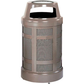 """Canopy Top Combo Sand Top Urn And Trash Can, Bronze, 38 gal. cap, 24"""" Dia x 43""""H"""