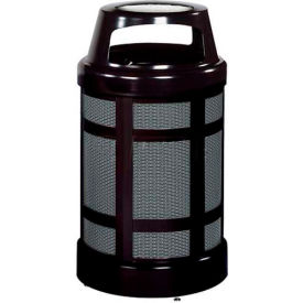 """Canopy Top Combo Sand Top Urn And Trash Can, Black, 38 gal. cap, 24"""" Dia x 43""""H."""