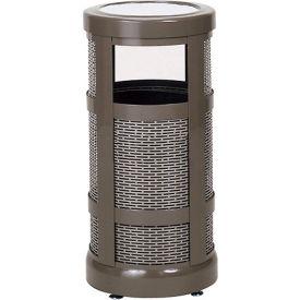 "Combo Sand Top Urn And Trash Receptacle, Bronze, 5 gal. capacity, 12"" Dia x 24""H"