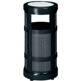 "Combo Sand Top Urn And Trash Receptacle, Black, 5 gal. capacity, 12"" Dia x 24""H."