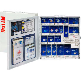 First Aid Only 746004 Large SmartCompliance Metal First Aid Cabinet, ANSI...