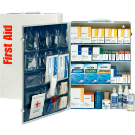 First Aid Only 90576 4 Shelf First Aid Kit w/Meds, ANSI Compliant, Class B+,...