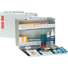 First Aid Only 90603 2 Shelf First Aid Kit, ANSI Compliant, Class B+, Metal...
