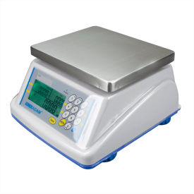 "Adam Equipment WBZ6a Digital Washdown Retail Scale 6lb x 0.002lb 8-5/16"" x 6-13/16"" Platform"
