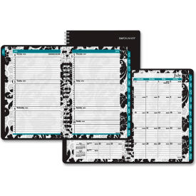 "AT-A-GLANCE Madrid Academic Weekly/Monthly Appointment Book 5/8"" x 9-5/16"" x 11-1/8"" Blk/White by"