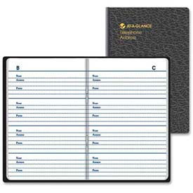 """At-A-Glance® Pocket Telephone And Address Book AAG8046000, 2-1/8""""W X 3-1/4""""H, Assorted"""