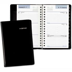 DayMinder® Weekly Pocket Appt. Book, Telephone/Address Section, 3 3/4 x 6, Black, 2019