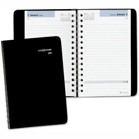 DayMinder® Daily Appointment Book, 4 7/8 x 8, Black, 2018