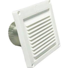 "Speedi-Products Micro Louver Eave Vent EX-EVML 04 White 4"""