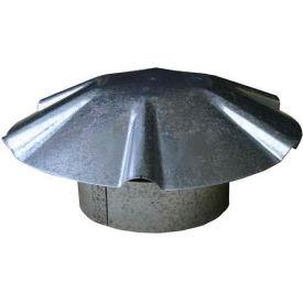 """Speedi-Vent 7"""" Dia. Galvanized Umbrella Roof Vent Cap EX-RCGU 07"""
