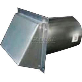 """Speedi-Products Galvanized Wall Caps With Spring Damper SM-RWVD 4 4"""""""