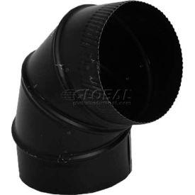 "Speedi-Products Black 90° Elbow SP-24BE90 06 24 GA. 6"""