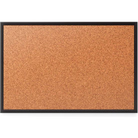 Quartet® Cork Bulletin Board, 3' x 2', Black Frame