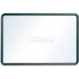 "Quartet® Contour® Whiteboard, 36""W x 24""H, Black Frame, Flexible Mounting"