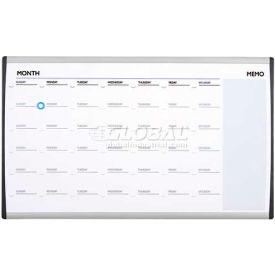 "Quartet® Arc™ Cubicle Whiteboard Calendar, 30""W X 18""H, Magnetic, Aluminum Frame"