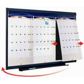 "Quartet® Prestige Three-Month Calendar, 36""W x 24""H, Total Erase Surface, Modular"