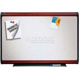 "Quartet® Prestige Plus® Premium Porcelain Whiteboard, 48""W x 36""H, Mahogany Frame"