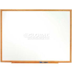 "Quartet® Whiteboard, 72""W x 48""H, Oak Finish Frame, Flexible Mounting"