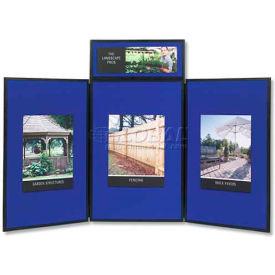 "Quartet® Show-It 3-Panel Display System, 72""W x 36""H, 2-Sided Panels"