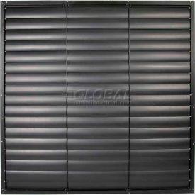 "Black Aluminum Frame / PVC Blade Wall Exhaust Shutter 39"" - EASB-PVCB 39"