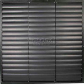 "White Aluminum Frame / PVC Blade Wall Exhaust Shutter 51"" - EASW-PVCW 51"