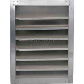 "High Galvanized Fixed-Height Adjustable Width Louver 24"" - GAFL 24-1830"